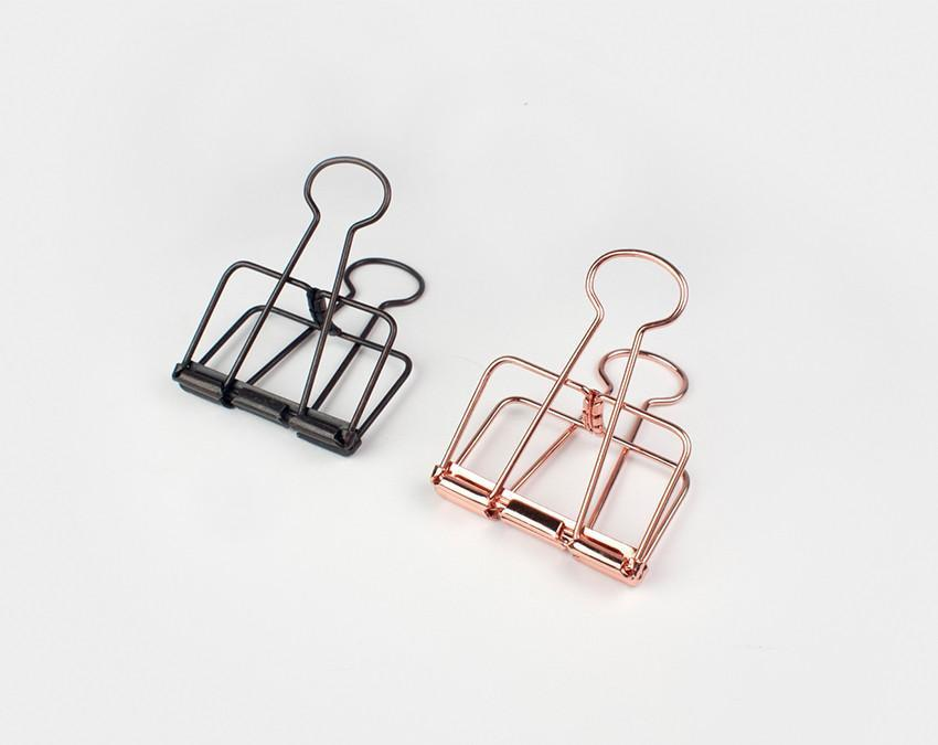 Box of 3 large Wire style binder clips made from spring steel at www.onceuponaflutter.com