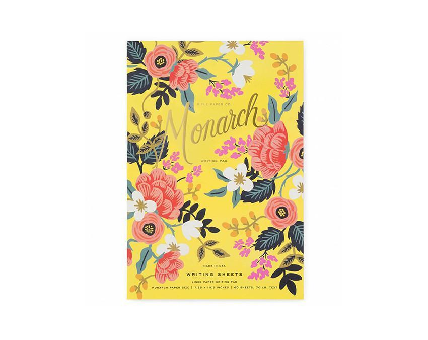 Notepad with 60 ruled sheets with botancial illustrated print at www.onceuponaflutter.com