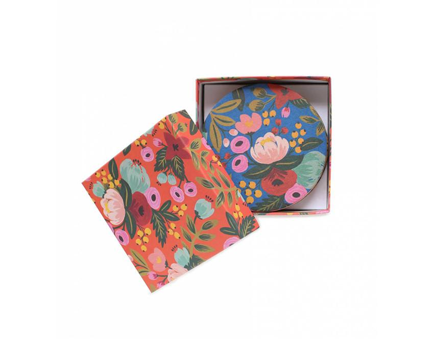Floral Coaster Set at onceuponaflutter.com