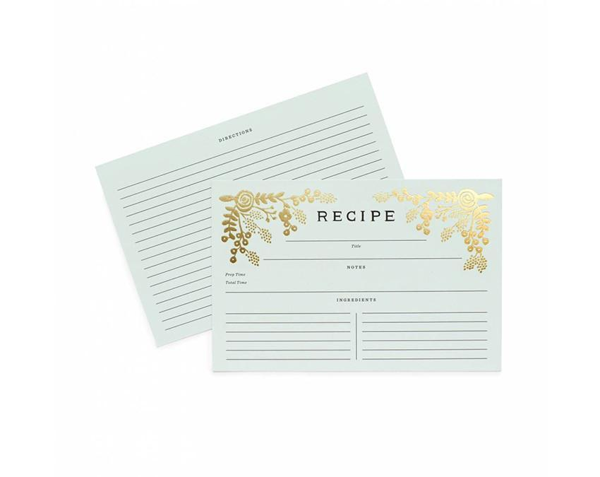 Set of Kitchen Recipe Cards at onceuponaflutter.com