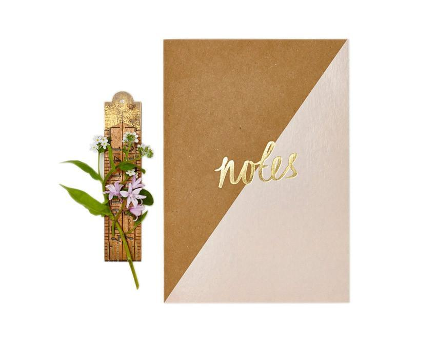 Kraft Pink Notebook with gold foil at www.onceuponaflutter.com