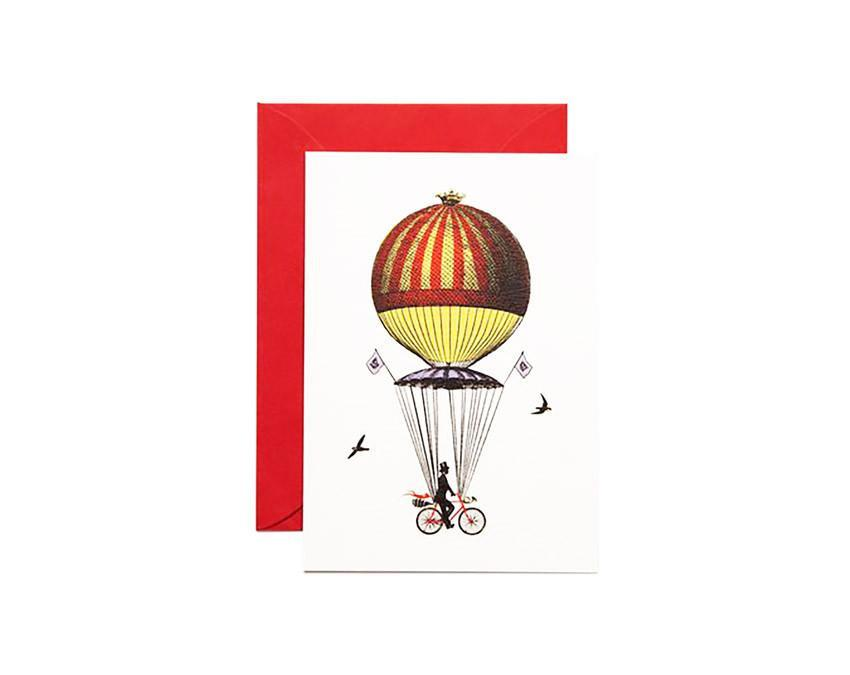 Ride Above It Greeting Card with red envelope at onceuponaflutter.com