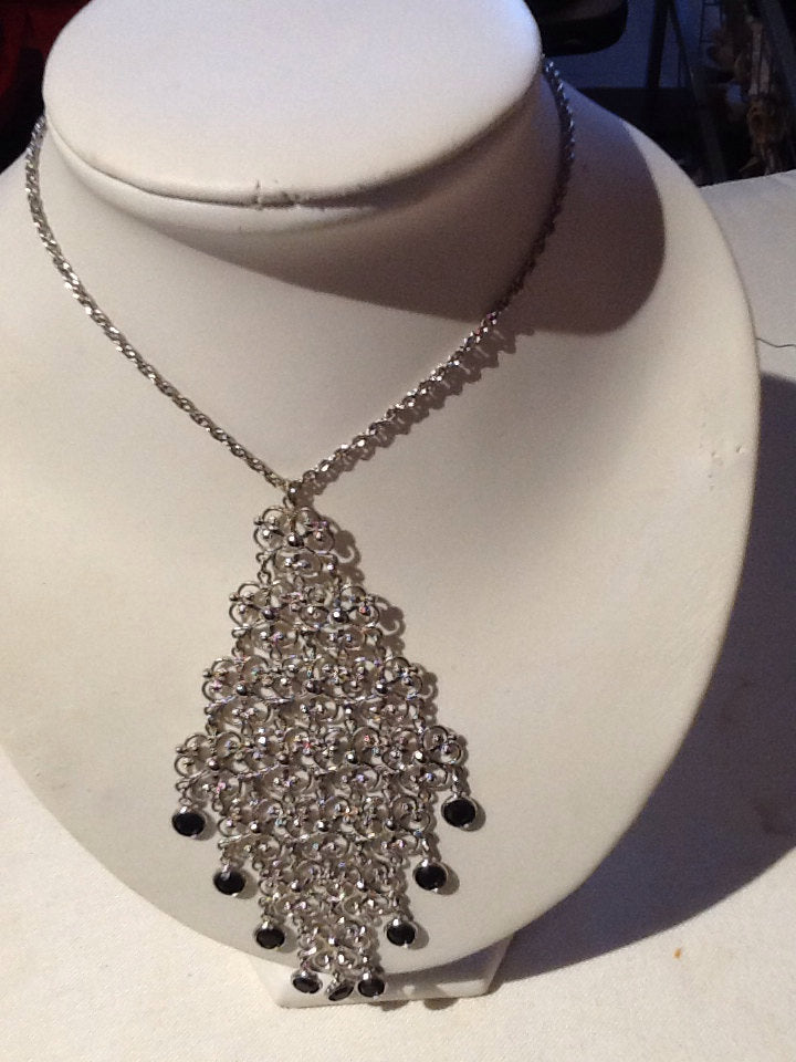Silver Filigree necklace 1970's
