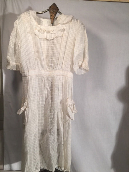 Childs 1910-20's Cotton Dress Flower Girl Wedding Party