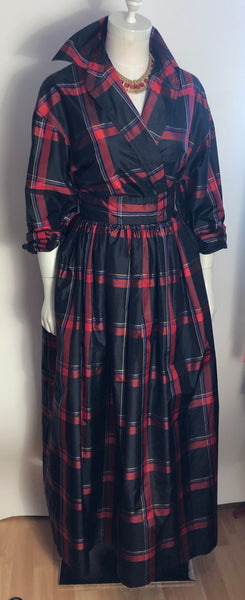 Silk Plaid Two Pc. Evening Dress