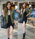 Gigi Green Bomber Jacket