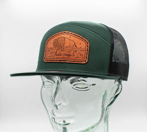 7 Panel Leather Patch Hat Collection
