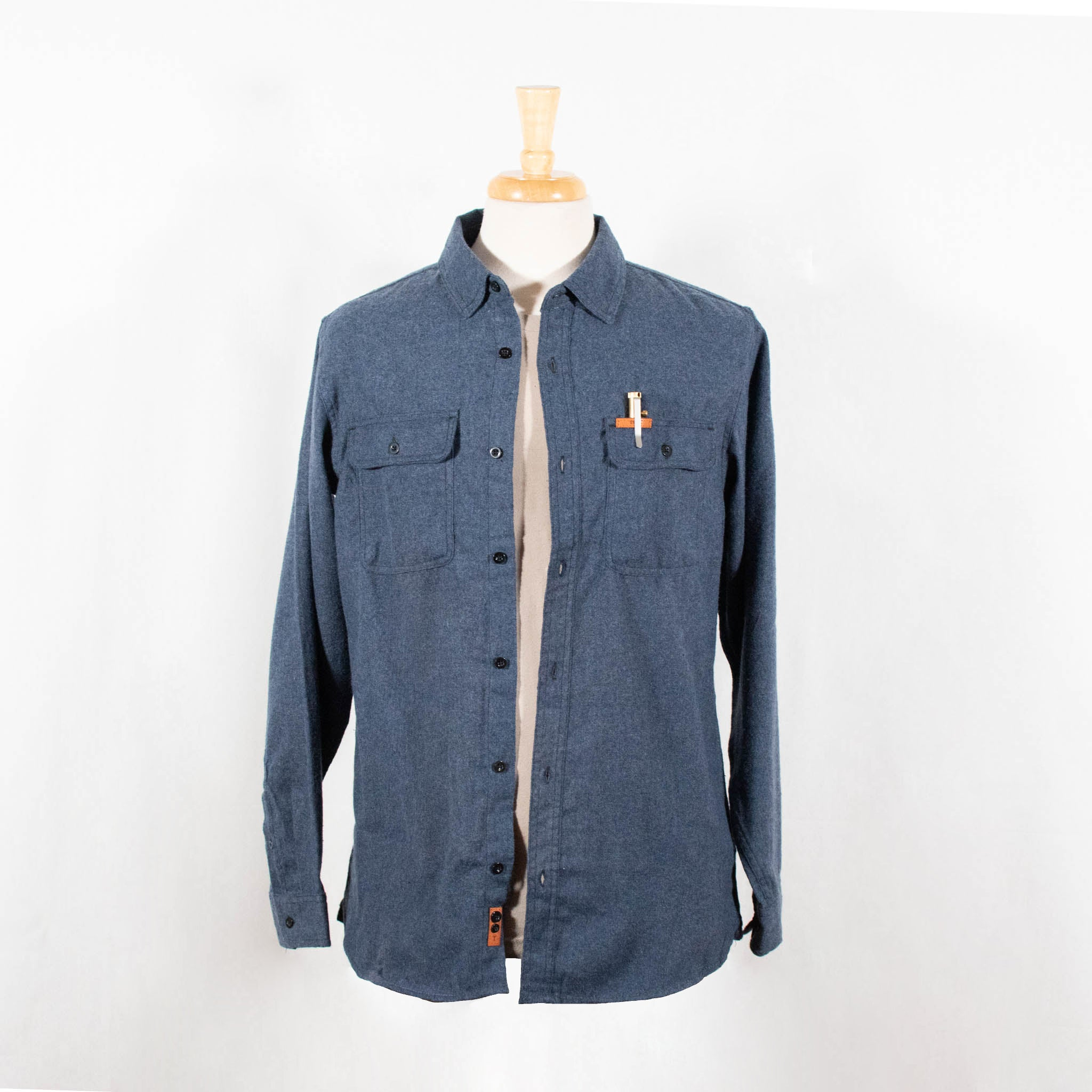 TRADE Flannel Shirt - Navy