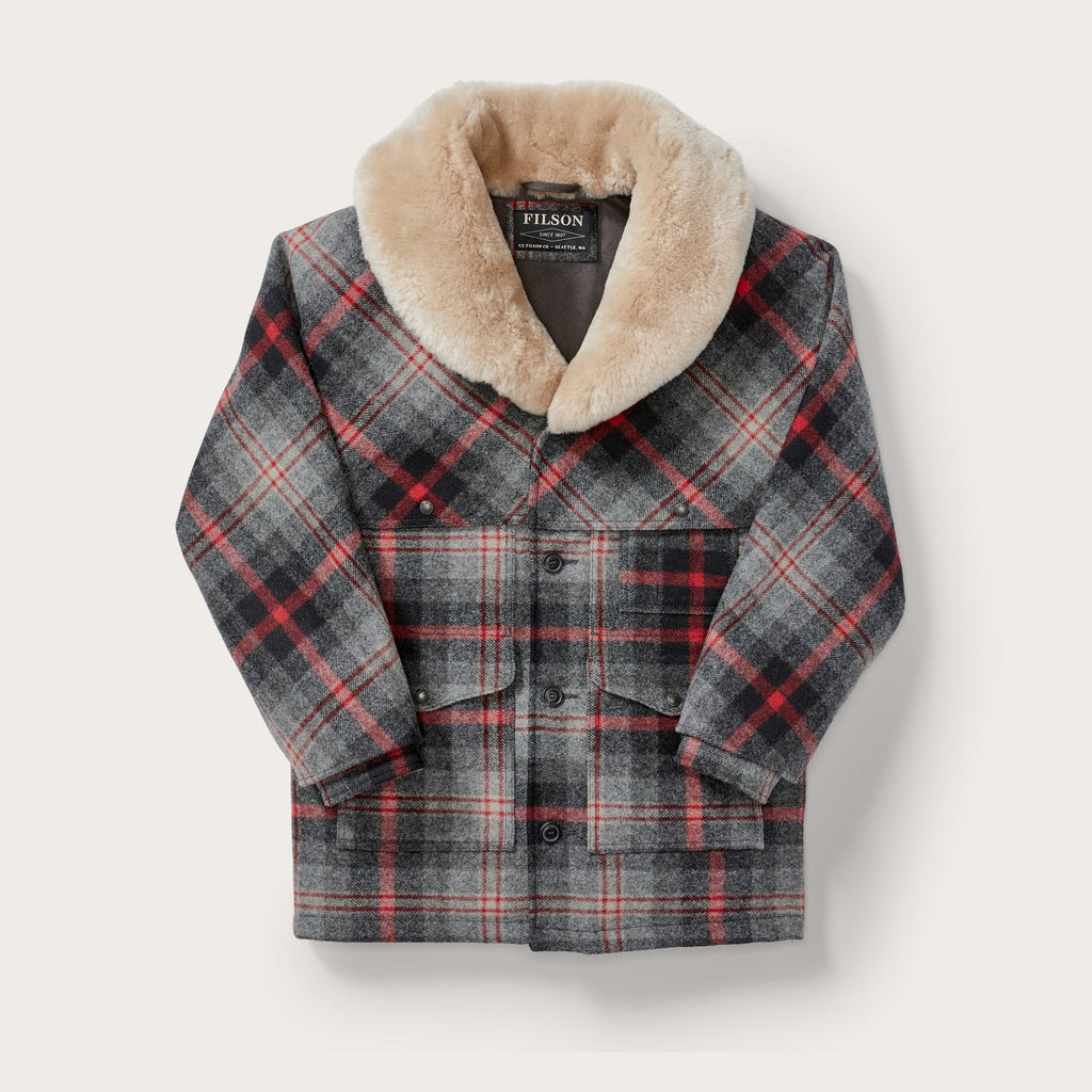 Filson - Lined Wool Packer Coat  - Red/Gray Multi Plaid - 30% Off