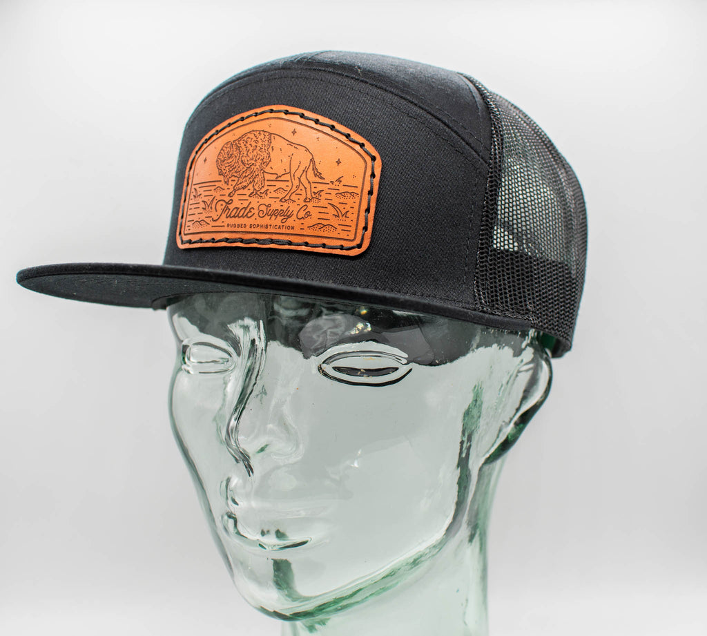 Tombstone Bison 7 Panel Trucker Hat