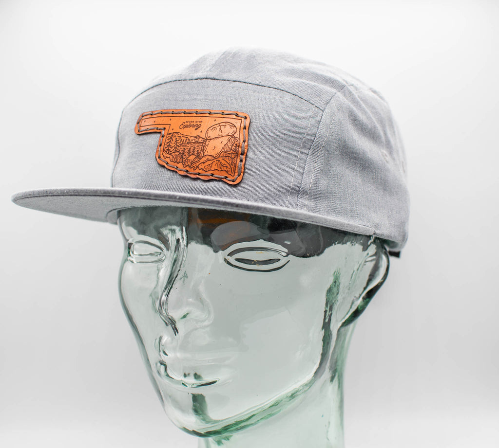 Never Stop Exploring 7 Panel Camp Hat