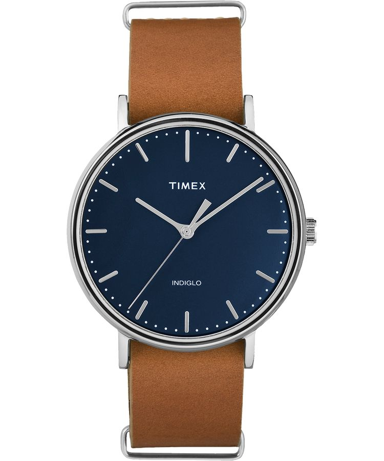 Timex - Fairfield Slip-Thru 41mm Leather Strap Watch
