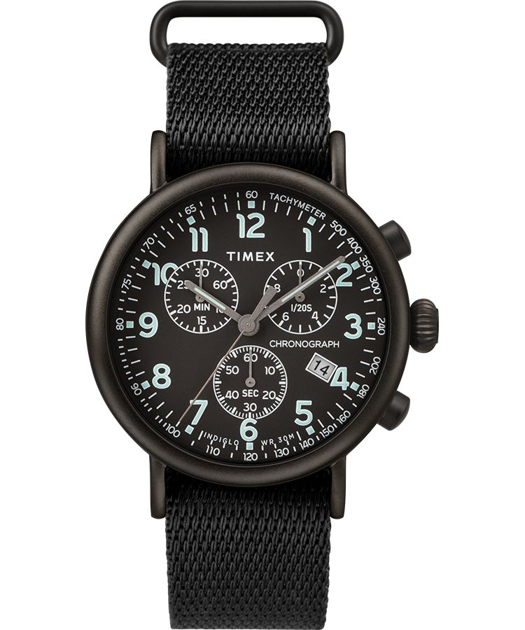Timex - Standard Chronograph 41mm Fabric Strap Watch