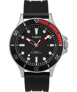 Timex - Allied® Coastline 43mm Silicone Strap Watch