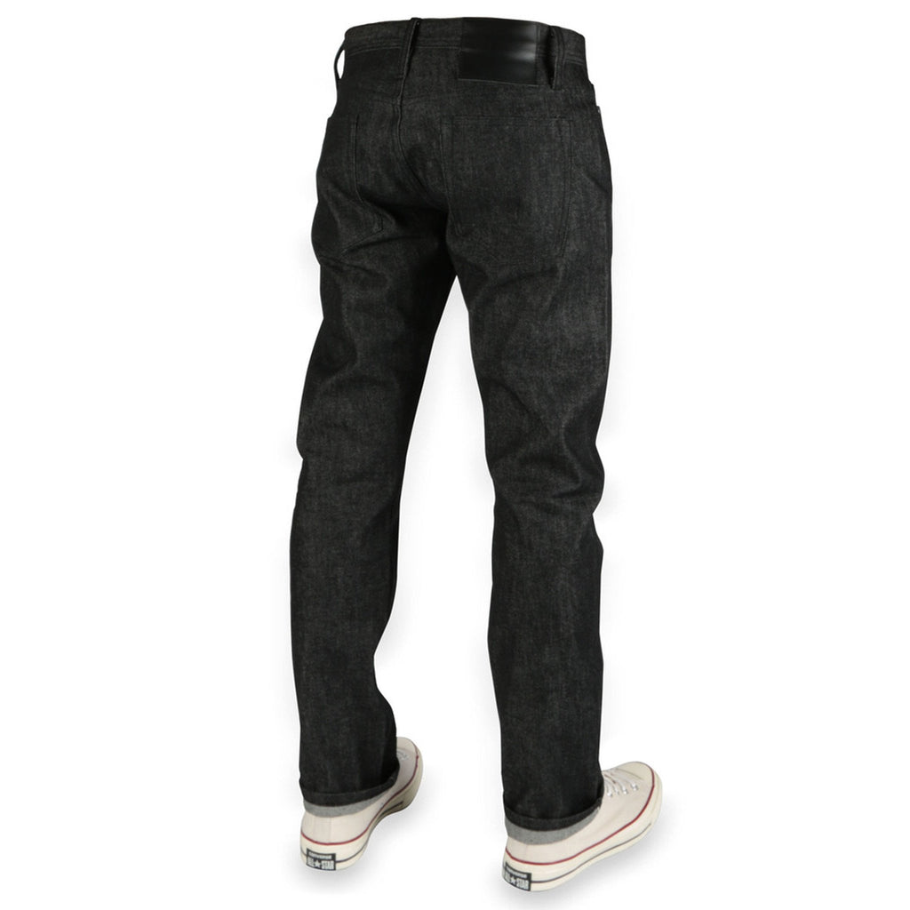 Unbranded Brand- UB244 Tapered Fit 11oz Stretch Selvedge - Black