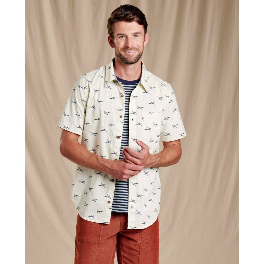 Toad&Co  - Fletch Short Sleeve Shirt - Oatmeal Road Runner