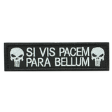 Punisher Skull Si Vis Pacem Para Bellum Morale Tactical Patch - strapcrafts