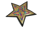 Bling Sequin Colorful Star Sew On Back Patch, Embroidered patch- 1 PC - strapcrafts