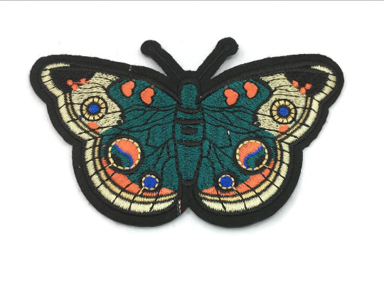 Butterlfy Sew On Back Patch, Embroidered patch- 1 PC