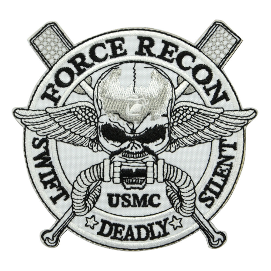 Embroidery USMC Force Recon Swift Deally Silent Tactical Patch -1PC - strapcrafts