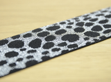 1 3/4 inch 45mm Black and Silver Dots Glitter Elastic Glitter Elastic band,- 1Yard - strapcrafts