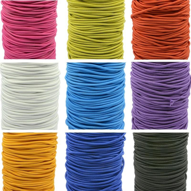 0.1 inch / 2.5 mm Ruber Round Elastic Cord String Band 90 Yard /270 ft
