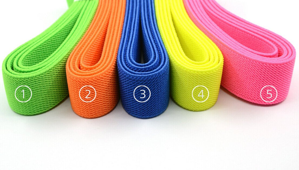 1 inch (25mm) Wide Colored Double-side Twill Stretch Elastic Band For Wasitband and Sewing