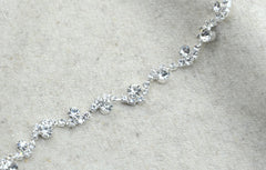 "1/4"" S-Line Crystal Rhinestone Chain Trim, Wedding belt, Bridal Sash, Rhinestone Necklace,Crystal Bracelet,Headband -1 Yard - strapcrafts"