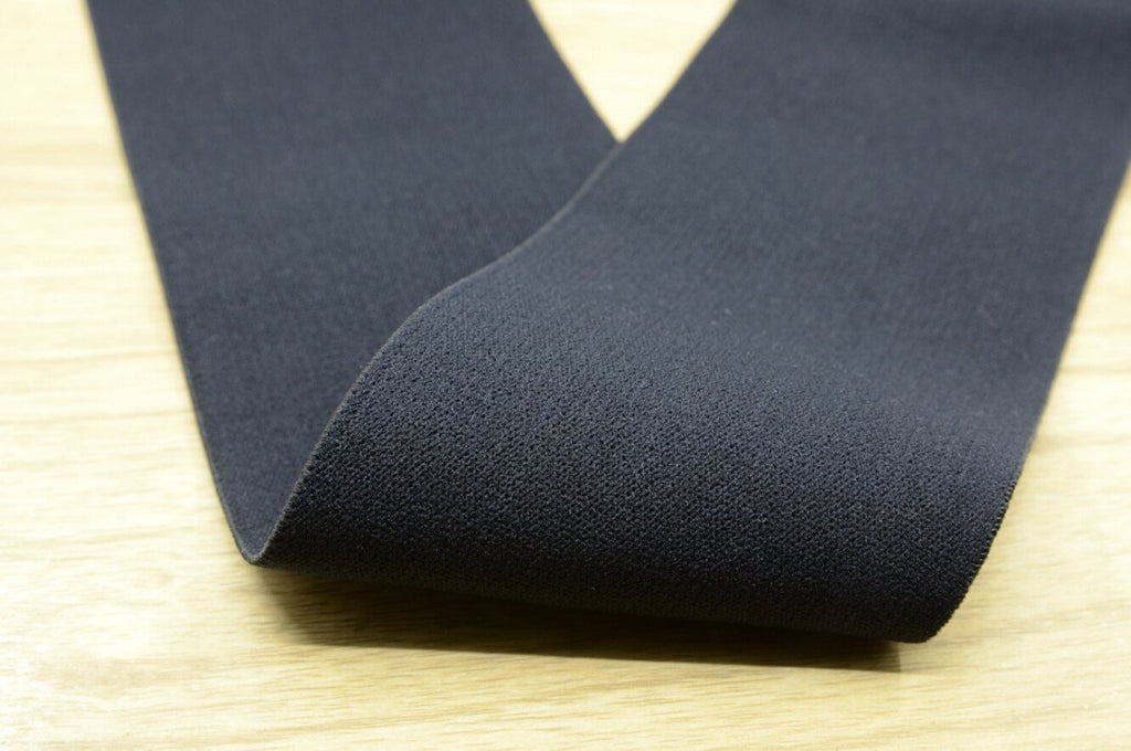 "3"" (75mm) wide White and Black Comfortable Plush Elastic,Waistband Elastic,Soft Elastic, Sewing Elastic By the Yard"