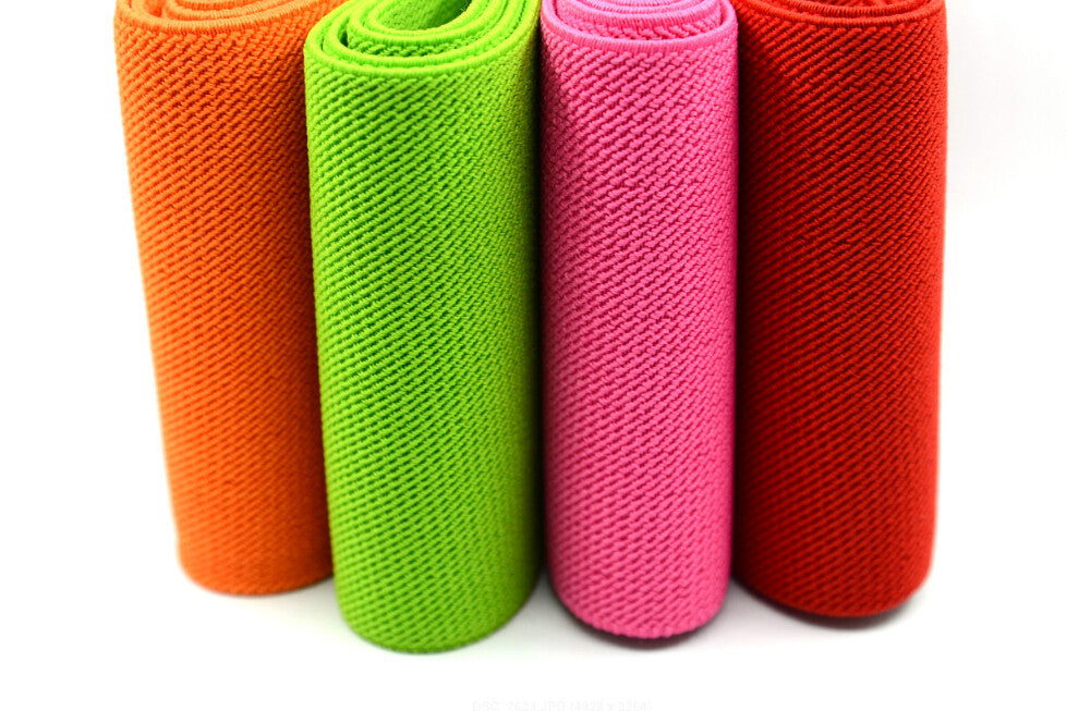 4 inch (100mm) Wide Colored Double-side Twill Elastic Band // Waistband Elastic //Heavy Duty Elastic // Sewing Elastic - strapcrafts
