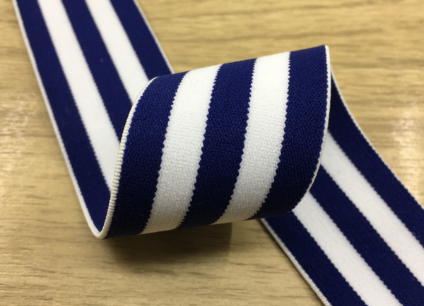 1 5 Inch 40mm Colored Plush White And Blue Wide Striped