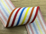 2 inch (50 mm) Wide Colorful Stripe Thin Elastic Band - strapcrafts