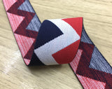 1.5 inch (40mm) Wide Colored Plush V Pattern Soft Waistband Elastic - strapcrafts