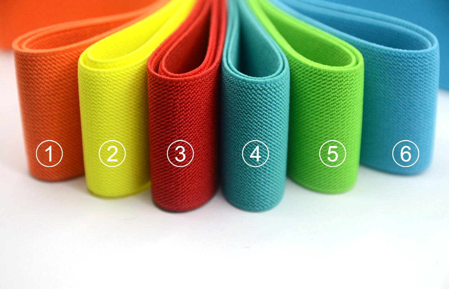 "2"" 50mm wide Solid Colored  Waistband Elastic by the Yard - strapcrafts"