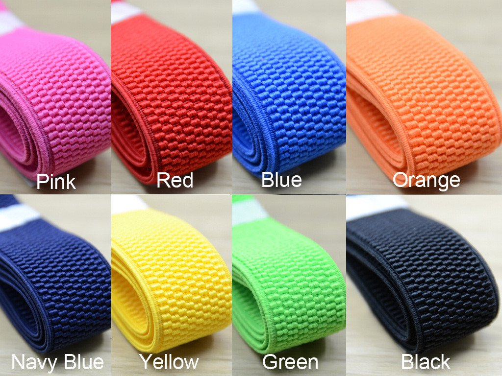 1 1/4 inch 30mm Wide Woven Patterned Colored Stretch Elastic Band