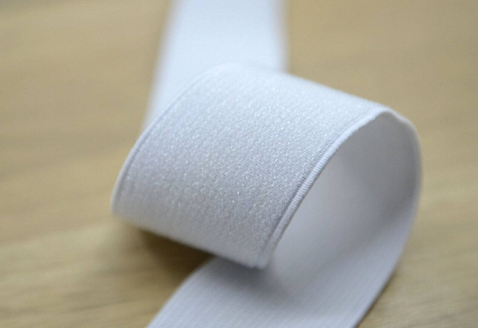 1.5 inch 38mm Wide White Glitter White elastic by the yard, Waistband Elastic -1 Yard