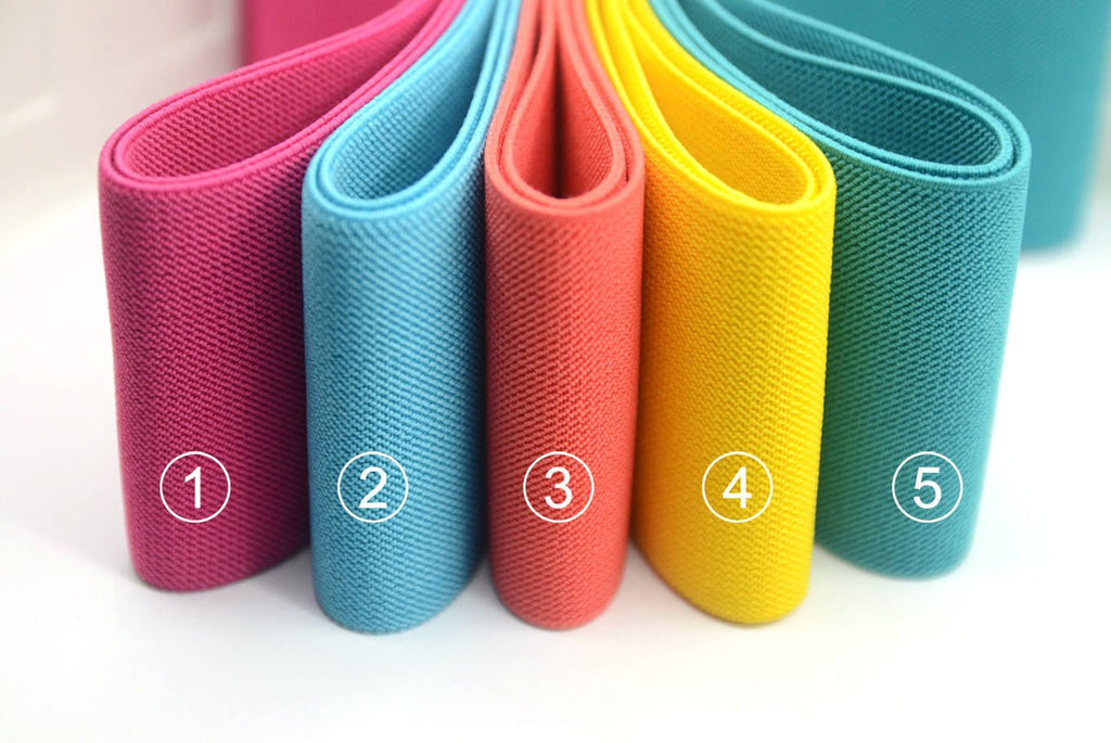 "3"" 75mm Wide Solid Colored Heavy Duty Waistband Elastic by the Yard"