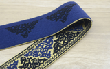 2 inch 50mm Wide Embroidery Jacquard Glitter Waistband Elastic Band , - strapcrafts