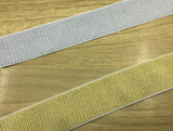 1.5 inch (38mm) Wide Soft Silver and Gold Glitter Elastic Bands, Waistband Elastic, - strapcrafts