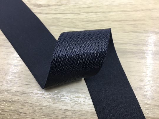 2 inch 50mm Wide Satin Black Elastic Band,Waistband Elastic- 1Yard - strapcrafts