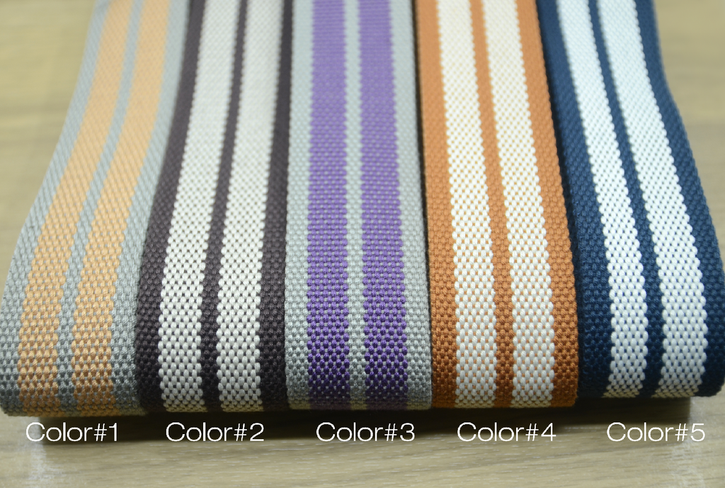 Striped Cotton Webbing,1.5 inch 38mm wide cotton webbing  ,Multi color cotton webbing