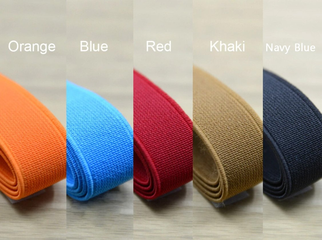 "3/4"" 20mm wide Colored Heavy Duty Elastic Stretch Band For Waistband - strapcrafts"