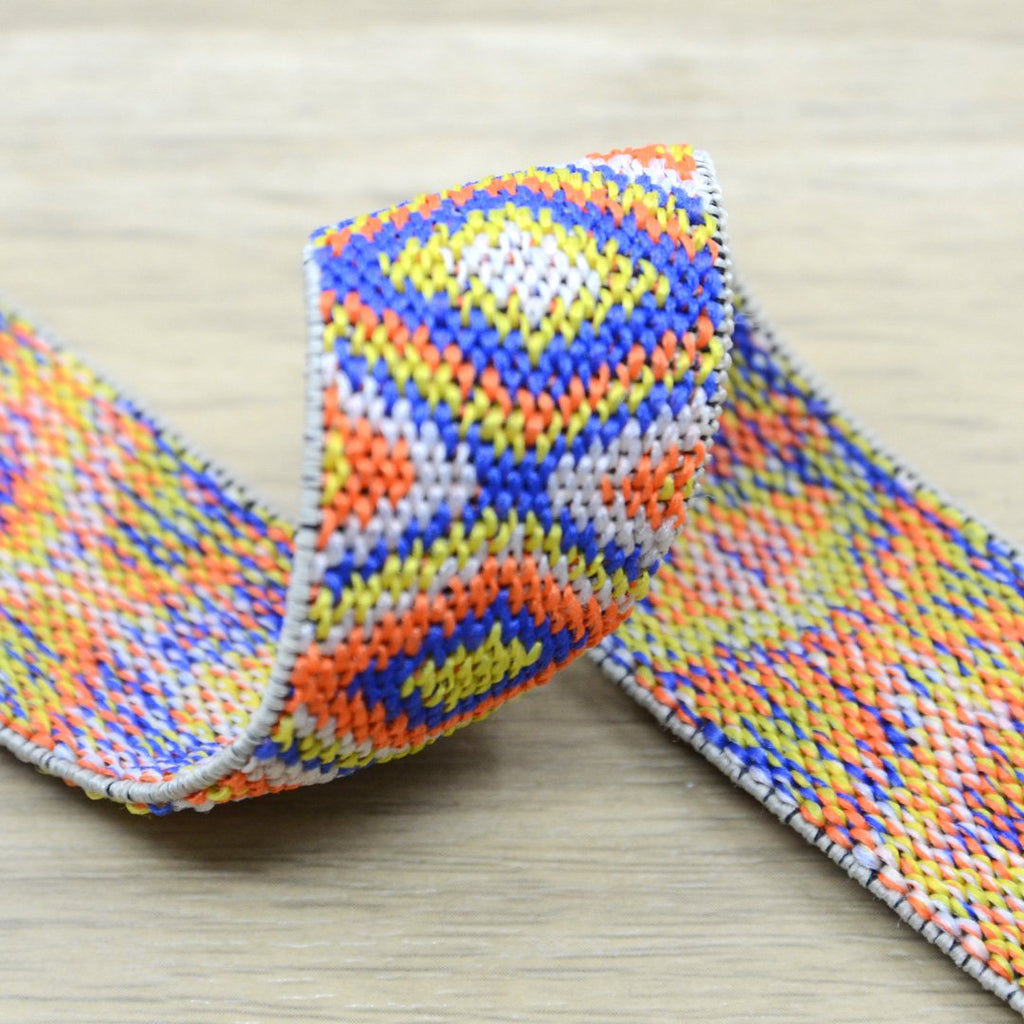 1 inch (25mm) Colored Ethnic Pattern Elastic Band, Waistband Elastic, Elastic Trim, Sewing Elastic