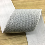 2 inch (50mm) Wide Gold and Silver Glitter Soft White Elastic Bands - 1 Yard - strapcrafts