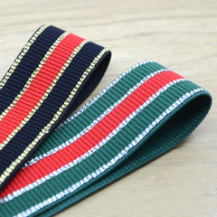 1.5inch 40mm Colorful  Glitter Striped Elastic Band , Colored Elastic Trim, Elastic Ribbon,  Elastic by the Yard,