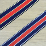 1.5inch 40mm Blue  Glitter Striped Elastic Band , Colored Elastic Trim, Elastic Ribbon,  Elastic by the Yard, - strapcrafts