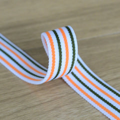 0.75 inch 20 mm Colorful Striped Elastic Band , Colored Elastic Trim, Elastic Ribbon,  Elastic by the Yard, - strapcrafts