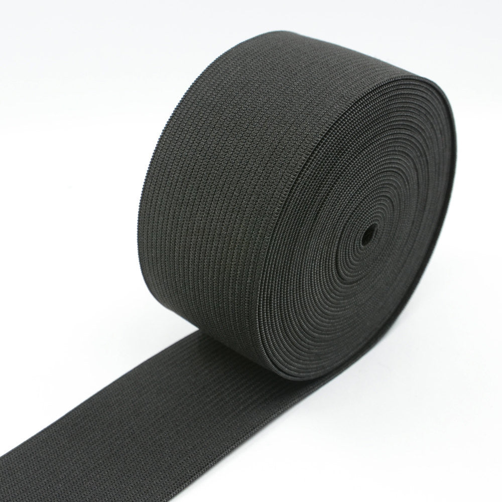 2 Inch 50mm Heavy Stretch Black And White Knit Elastic Band Strapcrafts