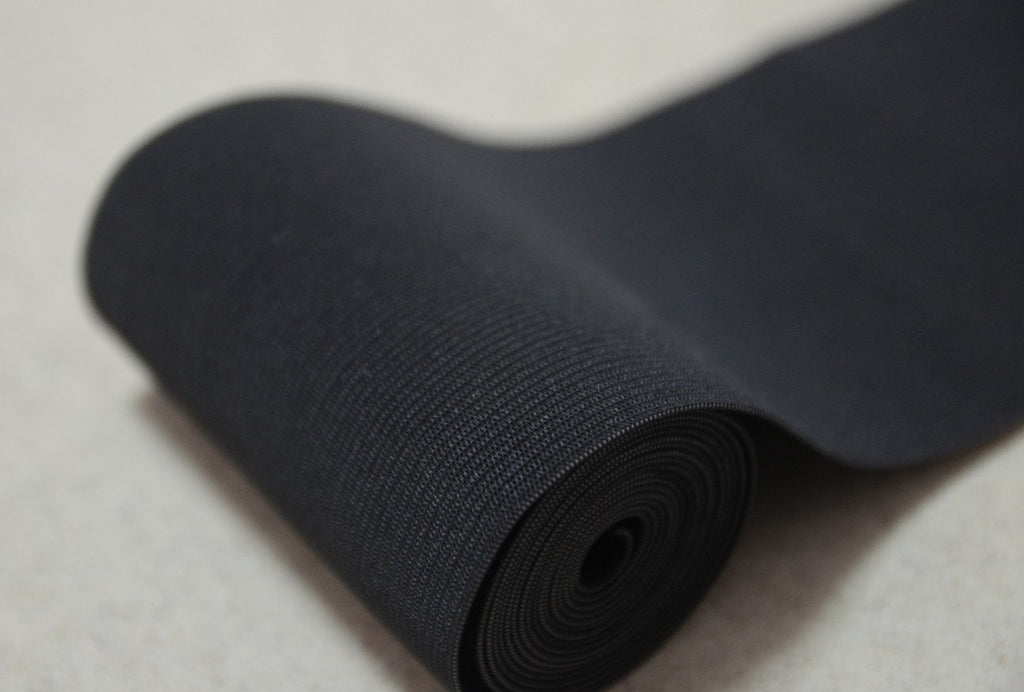 4 inch 100mm Wide Black and White Knit Elastic, Waisband Elastic