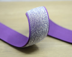 Glitter Purple Sewing Elastic ,Colored Elastic, 1 1/2 inch 40mm Waistband Elastic